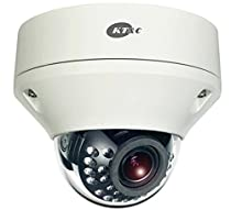 KEZ-C2DR28V12IR KT&C 2.8~12mm Varifocal 1080p Outdoor IR Day/Night Dome HD-TVI Security Camera 12VDC/24VAC - White
