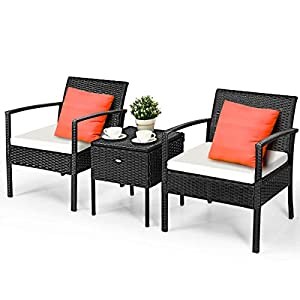 417QDD-dI5L._SS300_ 100+ Black Wicker Patio Furniture Sets For 2020