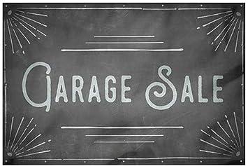 12x8 CGSignLab Chalk Corner Heavy-Duty Outdoor Vinyl Banner Garage Sale