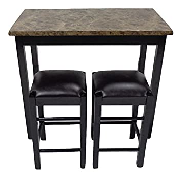 Pearington 36u0026quot;H X 42u0026quot;W 3 Piece Tavern/Counter Height Table With  Faux