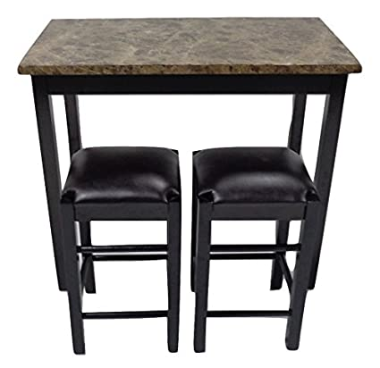 Pearington 36\u0026quot; H X 42\u0026quot; W 3 Piece Tavern/Counter Height Table with Faux  sc 1 st  Amazon.com & Amazon.com - Pearington 36\