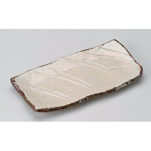 Grilled Fish Plate utw148-5-284 [10.3 x 5 x 1 inch] Japanece ceramic Pale green length angle dish tableware