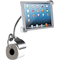 CTA Digital Wall-Mount Bathroom Stand for iPad and Tablets with Paper Holder (PAD-WBS)