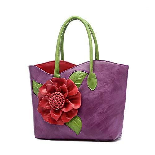 Sac Les Femelle Main À Pu Femme Shopping Handbag Rétro Bandoulière Purple Femmes Limotai xITcnf5cW