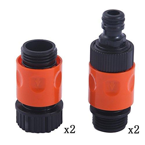 HQMPC Plastic Garden Hose Connector Garden Quick Connectors (2sets) …