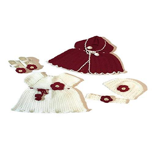Newborn Baby Girl Handmade Crochet Little Red Riding Hood -