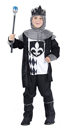 Bristol Novelty CC827 Chess King Costume, Medium, Black, Approx Age 5 - 7 Years, Chess King (M) ()