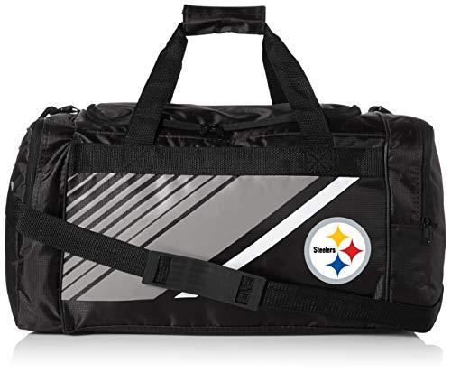 Pittsburgh Steelers Border Stripe Duffle Bag]()