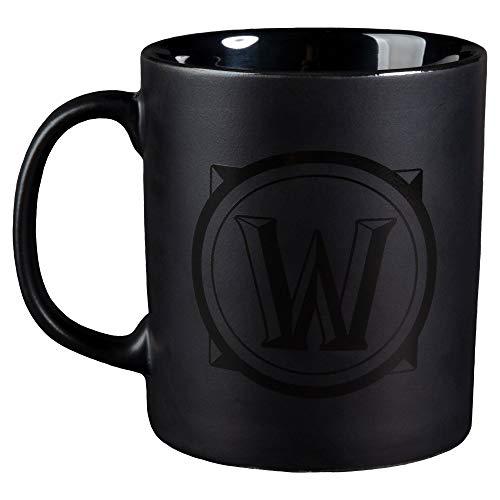 JINX World of Warcraft Blackout Logo Ceramic Coffee Mug, 11 ounces