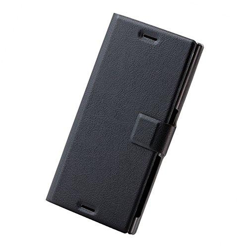 ぼかすビジタージェームズダイソンエレコム  Xperia XZs ケース ( Xperia XZ 対応) 手帳型 レザー ケース カバー  スリム設計 マグネットフラップ付 ブラック PM-XXZSPLFUMSBK