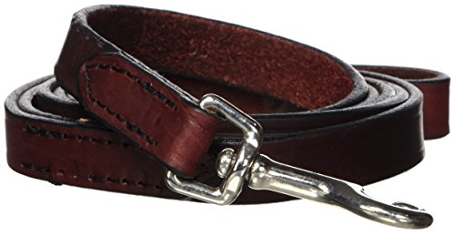 "Hamilton 3/4"" x 6' Burgundy Leather Training Dog Lead"