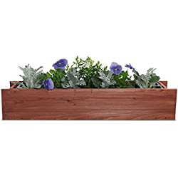 "Matthews Window Box with Planter Guard Heartwood, 6"" x 36"" x 7"""