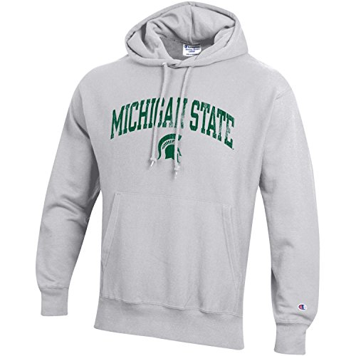 Champion NCAA Michigan State Spartans Men's Men's Reverse Weave Hoodie, Small, Gray