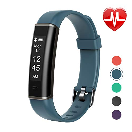 Letsfit Fitness Tracker for Kids Women and Men (Gray)