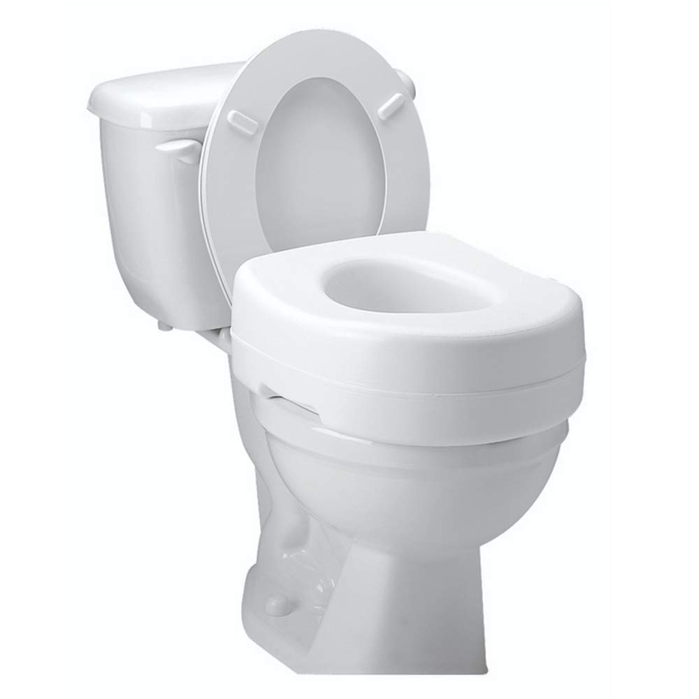 Carex Toilet Seat Riser - Adds 5 Inch of Height to Toilet - Raised Toilet Seat With 300 Pound Weight Capacity - Slip-Resistant 417QGHIJuEL