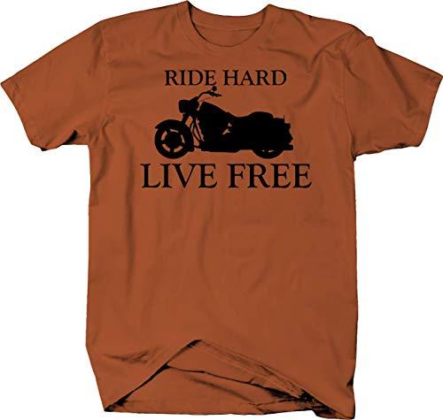 Motorcycle - Ride Hard Live Free - Custom Cruiser Bike Tshirt - Small