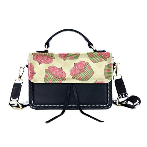 ag Cup Cake Girl Colored Sweet Print Shoulder Bag Top Handle Tote Flap Over Satchel Purses Crossbody Bags Messenger Bags For Women Ladies ()