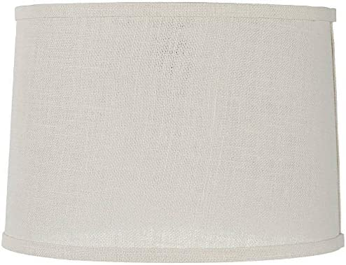 Off White Fabric Set of 2 Drum Shades 15x16x11 Brentwood Spider