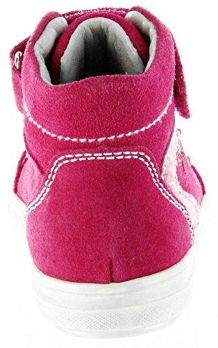 Richter modische Mädchen Leder Sneakers High fuchsia, Leder Fußbett, 3338178/25 Pink