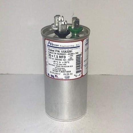 35/7.5 MFD 370/440V RD CAP