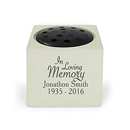 Personalised Memorial Vase In Loving Memory Grave Vase Grave