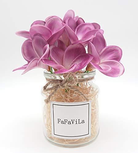 Bunch-of-12-PU-Real-Touch-Lifelike-Artificial-Plumeria-Frangipani-Flower-Bouquets-Wedding-Home-Party-Decoration-Plumeria-12-pcs-Matte-purple