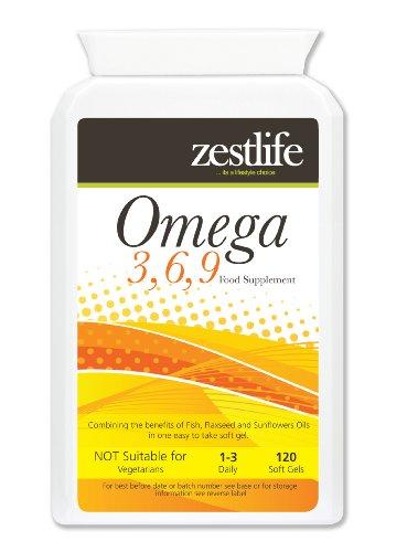 Omega 3,6,9 1000mg - 120 Kapseln Die drei essentielle Fettsäuren, die der menschliche Körper nicht selbst herstellen sind die Omega 3-6-9, die wichtig sind für die Entwicklung des Gehirns, die Funktion des Immunsystems und Regulierung des Blutdrucks, Vorteile von Omega-9 dass es reduziert Arterienverkalkung.