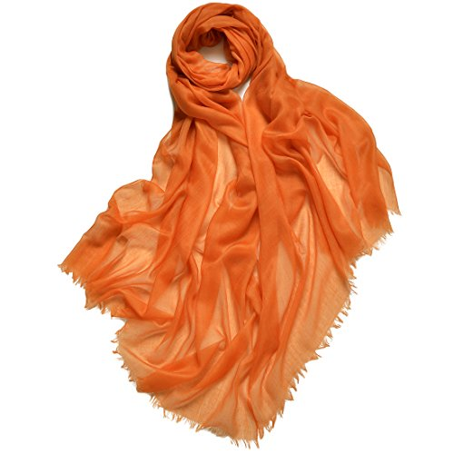 (ZORJAR Pure Cashmere Scarf Women Ultra Thin Pashmina Shawls and Wraps 39