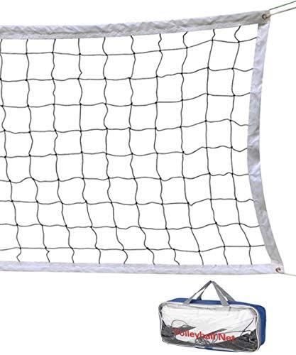 شبكة كرة الطائرة 32 قدم 3 قدم شبكة للكرة الطائرة الشاطئية قابلة للحمل ذات حجم قياسي رسمي معدات التدريب الرياضية في الأماكن المغلقة والمفتوحة بدون إطار Amazon Ae