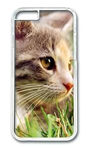 MOKSHOP Adorable Cute cat Hard Case Protective Shell Cell Phone Cover For Apple Iphone 6 Plus (5.5 Inch) - PC Transparent