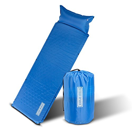 - OUTDOOR ANYWHERE Camping Mat for Outdoor Sleeping - Light Weight Compact Inflatable Sleep Pad for Backpacking and Hiking