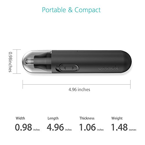 Nose Trimmer, Xpreen Nose Hair Trimmer High-speed Rotating Waterproof Stainless Steel Ear Hair Trimmer for Men and Women
