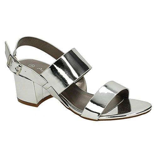 Michelle Anne Femme talons Argent Mi Chaussures ZdxqwTB