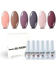 Vishine Soak Off Gel Polish Set Beauty Manicure DIY Mixed 6 Colors Starter Set 8ml Each Bottle