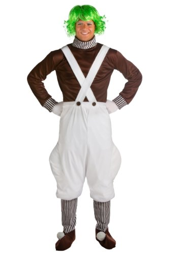 Fun Costumes Plus Size Chocolate Factory Worker Costume/Wig