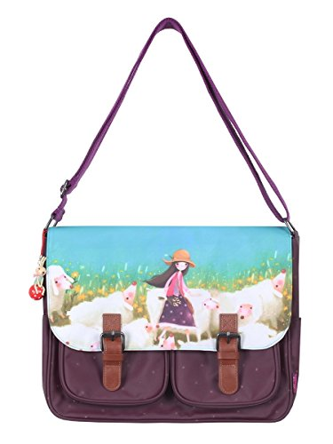 Gorjuss Kori Kumi Coated Satchel - Buttercup Meadow