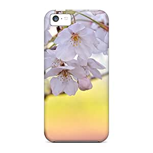 Durable Cherry Blossom Back Cases/covers For Iphone 5c