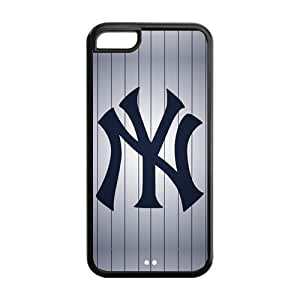 WY-Supplier Funny Fashion Cool MLB New York Yankees Protector Case for iphone 5c - New York Yankees iphone 5c phone case-TPU case