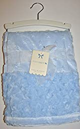 Beautiful Rosette and Star Blue Baby Blanket 30x40\