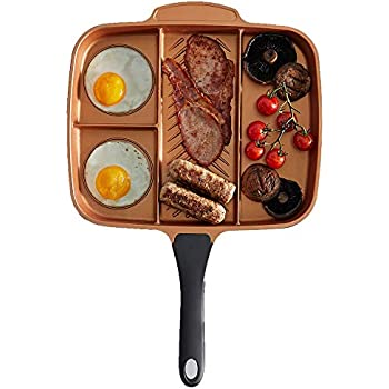 Amazon Com Vonshef 4 In 1 Divided Skillet Breakfast Grill
