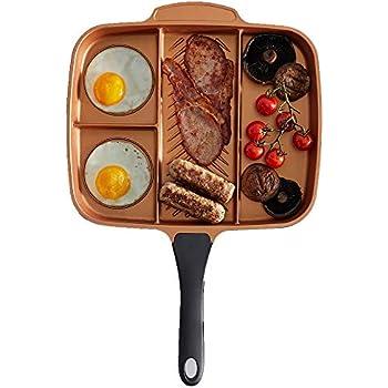 Amazon Com Vonshef 4 In 1 Divided Skillet Breakfast Grill