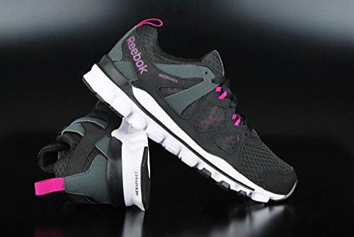 Black 0 Sneaker Black 2 White Reebok Run Hexaffect wgPqq80