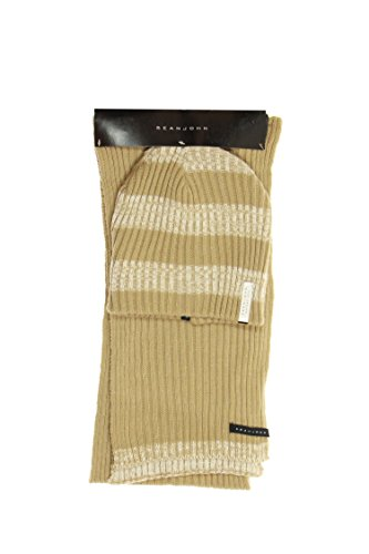 Sean John Beige Striped Beanie