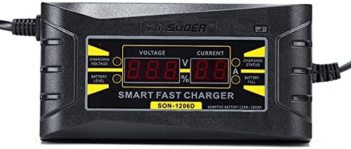Suoer SON 1206D LED Intelligent Display Charger 6A 12V Car