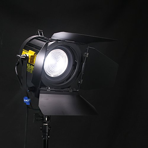 50W LED Fresnel Spotlight Daylight 5500K for Camera Photographic Studio Continous Lighting (Fresnel Spotlight)