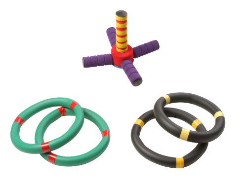 Champion Sports Ring Toss Game: Outdoor Lawn & Party Toy Set for Kids & Adults - Fun for Camping, Backyard BBQs or Indoors - Soft Foam Rings by Champion Sports