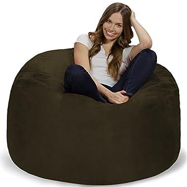 Chill Bag - Bean Bags Memory Foam Bean Bag Chair, 4-Feet, Olive