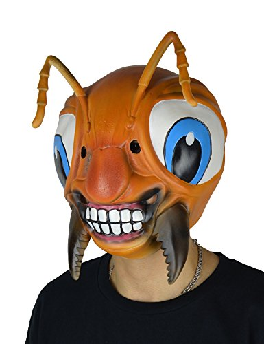 [LarpGears Novelty Halloween Costume Party Latex Animal Mask Cute Ant Mask Adult Size] (Cute Halloween Costumes)