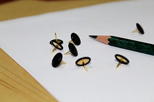Push Pins, 300pcs 3/8-Inch Plastic Round Head, 5/16-Inch Steel Point Thumb Tacks (Black) Photo #2