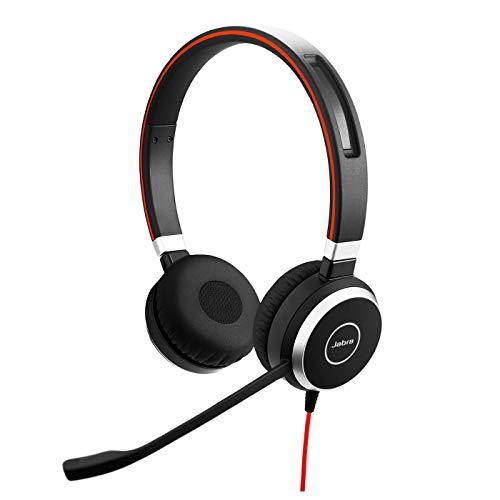 🥇 Jabra Evolve 40 – Auriculares Estéreo de Comunicaciones Unificadas para VoIP Softphone